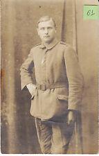 Soldat allemand guerre 14-18 photo sur CPA lot 61
