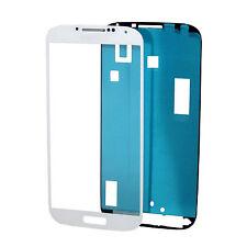 2x S4 TOUCHSCREN LCD Display Glas Scheibe Front Weiß+Kleber Samsung Galaxy S4