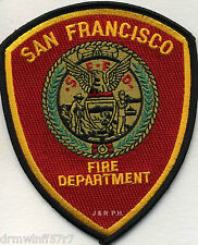 "San Francisco  Fire Dept., CA  (4"" x 4.75"" size)  fire patch"
