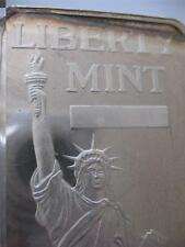 10 TROY OUNCE .999  PURE SILVER STATUE OF LIBERTY MINT BAR OLD CONDITION + GOLD