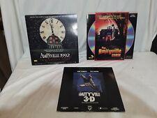 Lot of 3 Laserdiscs. Amityville 3D, Amityville 1992 & Amityville The Curse VG