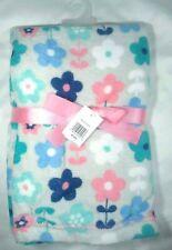 Nwt Baby Gear Girl Flower Fleece Security Blanket Lovey Grey Soft Bg Babygear