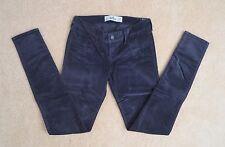 NWT Hollister Womens Skinny Jeans Size 1 Velvet Jeggings Pants Soft Gray