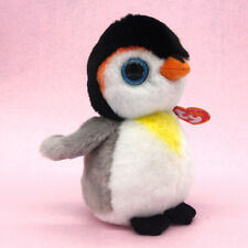 "Ty Beanie Boos Boo 6"" Penguin Pongo Stuffed Plush Animal Kids Baby Soft Toys"