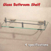 Modern Glass Corner Holder Rectangle Shelf Wall Mounted Bathroom Shower Storage