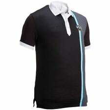 Callaway X Range Bold Linear Print Polo Golf Shirt (size Medium) Colour Caviar