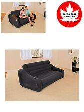 Pull Out Sofa Inflatable Bed w/ 3 Quick Inflation and Deflation Valves Versatile