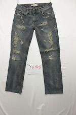Levis 511 slim custom destroy boyfriend usato (Cod.Y655) Tg.47 W33 L34 jeans
