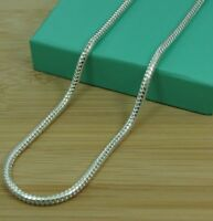 "1mm Solid 925 Silver Sterling Snake Chain Necklace Pendant 16 18 20 22 22 24"" UK"