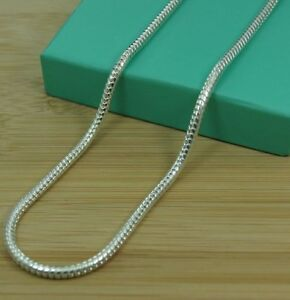 """1mm Silver Snake Chain Necklace Pendant Fashion Plated 16"""" 18"""" 20"""" 22"""" 24"""" UK"""