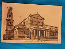 Roma Chiesa di S. Paolo Fuori le Mura vintage postcard Rome Italy