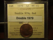 CANADA ONE CENT 1979 COMPLETE DOUBLE 1979 !!!! ICCS MS-64 Double 979!!!