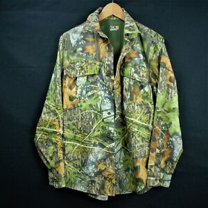 Under Armour Mossy Oak Obsesion Mesh Lined Long Sleeve Collared Button Up Small