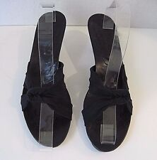 Donald J Pliner Woman's Black Fabric Front Bow Heel Sandals Size 9 1/2 M