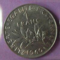 1 franc Semeuse 1960 petit 0 : SUP : pièce de monnaie française N20
