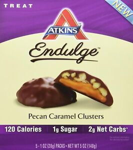 Endulge Pecan Caramel Clusters by Atkins Nutritionals, 5 oz 1 pack