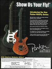 Parker Nitefly Series Guitar 2002 rebate offer ad 8 x 11 advertisement print