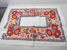 Vintage Buda-Flax Hungarian Floral Printed Towel or Table Square