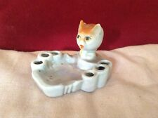 Japanese Lustre Ashtray/Cigarette Holder in the form of a Cat