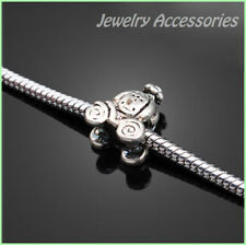Nouveau 1x Tibetan Silver Pumpkin Carriage Bead Charm Fit Bracelet fr10