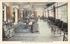 Excelsior Springs MO~Hotel Snapp Interior~Rocking Chairs in Sun Parlor~1927 PC