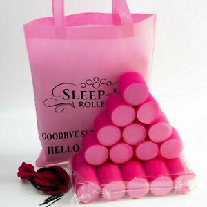 Sleep In Rollers Mega Bounce with Pink Roller Bag & Clips  50 Mm