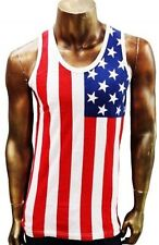 New listing Men's American U S A Stars Stripes Flag Cotton Tank Shirt. Size Small & Medium.