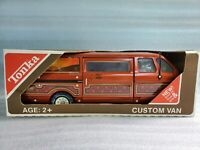 Tonka Custom Van Pressed Steel Desert Travel Camper Motor Home 3985 Orange