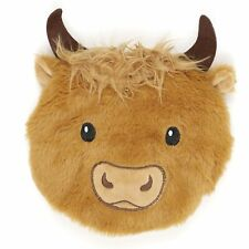 Highland Cow Round Microwaveable Heat Pack Cushion