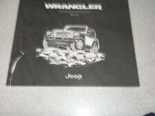 2016 Jeep Wrangler 12 x 11 manufacturer 46pg. sales catalog w/features/colors +