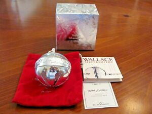 VTG 'WALLACE' SILVER PLATED LTD.ED.2000 ANNUAL 30TH CHRISTMAS BELL BALL ORNAMENT