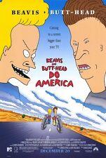 "BEAVIS AND BUTT-HEAD DO AMERICA D/S 27""x40""Original Movie Poster One Sheet Judge"