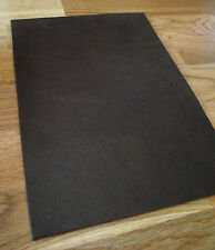 Alfombrilla de ratón - cuero real en marrón 18,5 x 26,5 cm - gran Aspecto