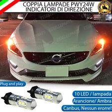 COPPIA LAMPADE LED PWY24W VOLVO XC60 CANBUS 10 LED FRECCE ANTERIORI NO ERRORE