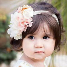 Newborn Baby Infant Girl Lace Flower Rose Crystal Headband Hair Band Hairdress