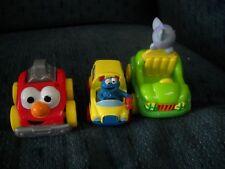 ELMO CAR, SESAME STREET BUS, CAT ON CAR 2001, MATTEL DIE CAST & PLASTIC