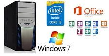 Neu Computer Komplett PC Intel i3 2120 3,30GHz 6GB DDR3 1TB Win 7 Office 2013