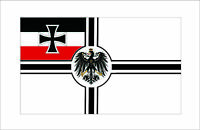 "Germany Imperial Vinyl Decal Bumper Sticker 3.75""x7.5"""