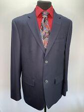 BONOBOS Men's 42  Navy 100% Wool &100% Silk Lining Sport Coat/ Blazer/ Suit Coat