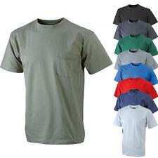 James & Nicholson Herren Kurzarm T-Shirt mit Brusttasche S - XXXL