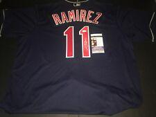 Jose Ramirez Cleveland Indians Autographed Signed Jersey JSA WITNESS COA Blue