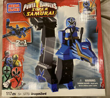 MEGA BLOKS Power Rangers SAMURAI DRAGONZORD 5773 117 Pc Blue Ranger+