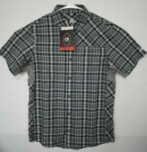 Club Ride Men's Vibe Shirt Snap Button Short Sleeve Shirt  S Steely Dan