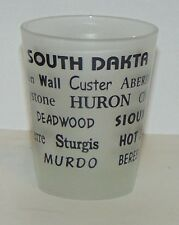 Shot Glass South Dakota frosted city names Misspelled state name