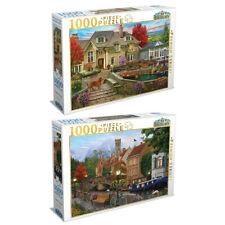 2x 1000pc Tilbury Kids Tudor House/Canal Living 69x50cm Jigsaw Puzzle Toys 8y+