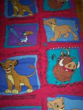 VINTAGE 90'S DISNEY THE LION KING CURTAIN PANELS - 2 = WINDOW CURTAIN