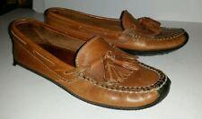 Cole Haan brown leather kiltie fringe tassel mocassins loafers. size 6