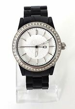 DKNY señora reloj negro blanco plástico piedras ny8012 nuevo embalaje original