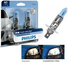 Philips Crystal Vision Ultra H1 55W Two Bulbs Head Light Low Beam Replacement OE