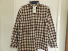 Brand New Mens Genuine Lee Valley Collar Fleece Lined Flannel MaroonTartan Shirt